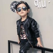 Kids Outwear Warm Autumn Winter Coats Jackets Boys PU Leather Jacket Solid Children Outerwear Fall Jacket Boys Clothing(China)