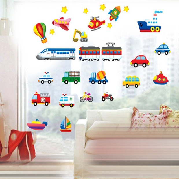 Car wall decals for kids hd photos