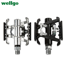 Buy Wellgo Ultralight Road Bike Pedals Mountain Bike Pedals Aluminum Alloy Cycling Bicycle Pedals Ball Bearings Bicycle Parts C099B for $27.08 in AliExpress store