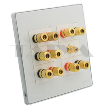 5.1 sound box speaker banana wall plate support DIY