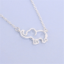 New Fashion Cute Hollow Animal Necklace Jewelry Origami Elephant Necklace Lucky Elephant Pendant Necklace Gift For Friends