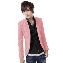2017Hot Sales New Arrival Spring Fashion Sapphire Color Stylish Slim Fit Men's Suit Jacket Casual Business Dress Blazers M-3XL S