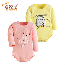 Baby BODYSUIT 2pcs Gift Set Children Autumn Newborn Baby Clothes Cotton Body Baby Long Sleeve Baby Girl Jumpsuit Products Boys