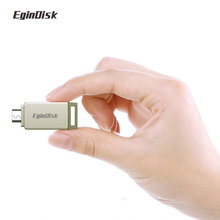 EginDisk Disk On Key Otg USB Flash Drive For Phone Metal Pendrive 8G 16G 32G 64G Super Mini Pen Driv Custom Logo Usb Stick