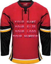 Custom Your logo/Name/Number White/Red Sewn On XXS-6XL Embroidery ICE Hockey Jerseys Wholesale China Free Shipping