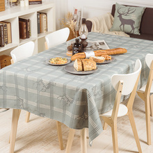 European simple style check design cotton and linen tablecloth for Dinning Table Tea Tables Table cloth 002(China)