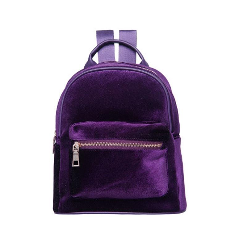2017 Hot Velvet Mini Backpack Student School Bags Unisex Travel Rucksack Shopping Pack Hot Chest Bags bolsas mochila XA1003B<br><br>Aliexpress