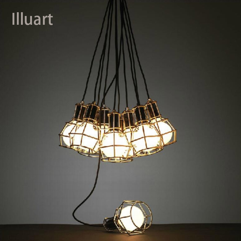 Creative Chandelier Europe Vintage Pendant Lamps Suspension Luminaire Balcony Wrought Iron Hanging Light Retro Edison Lamp<br>