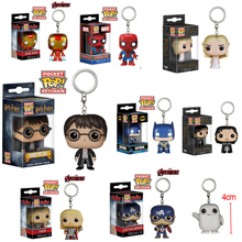 Marvel Funko Pop Keychain Doctor The Walking Dead Funko Pop Game of Thrones Key Chain Harry Potter Hermione Chaveiro Key Ring
