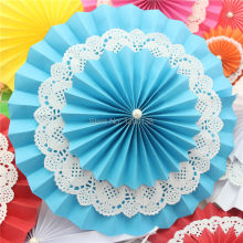 Free Shipping 200 pcs/lot 12 inch(30cm) Party Festival Decoration Paper Fan Hanging Decorative Double Layers Wedding Paper Fan