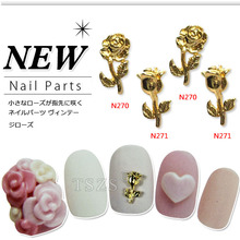 10pcs/lot 3d fashion false nails accessories nai art rose sticker