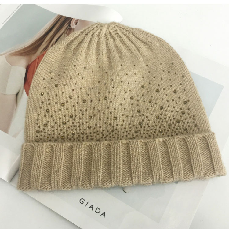 hat scarf set  Scarf, Hat & Glove Sets knitted  winter hat and scarf woman with diamond  (6)