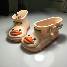 Hot sell 3 colors Children's Cute Duck Rain Boots Boys and Girls slip Baby shoes overshoes Waterproof for Kids Rubber Rainboots