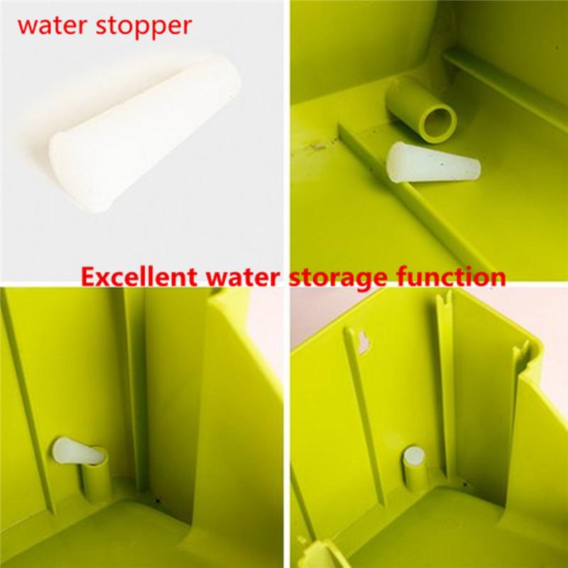 Stackable 2-Pockets Vertical Wall Planter Self Watering Hanging Garden Flower Pot Planter for Indoor/Outdoor 9