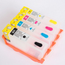 Empty 4 color Ink For HP 670 Refill ink cartridge use for HP670 Deskjet Ink Advantage 3525 4615 4625 5525 Printer with arc chip