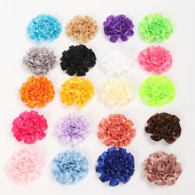 20PCS/lot 5cm Ribbons Satin Flowers Artificial Flowers For Headbands DIY Hair Bows Flower Without Clip Hairstyling Accessories
