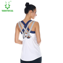 Women Yoga Tops cropped strip Gym Sports Vest Fitness Running woman Sleeveless shirt Quick Dry Fit Tank Top Yoga Wear(China)