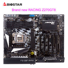 BIOSTAR Motherboard Z270GT8 LGA 1151 Computer Motherboard Racing DDR4 M.2 Support 6Graphics Card Slot Core I7 7700K i5 7500 6600