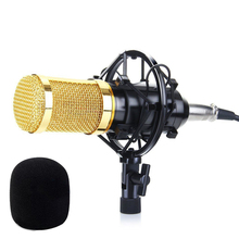 BM800 Condenser Microphone Studio Sound Recording Broadcasting with Shock Mount 3.5mm Audio Cable Sponge Microphone