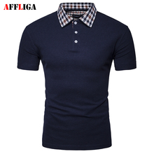 AFFLIGA Brand Clothing New Men Polo Shirt Men Business & Casual Solid Male Polo Shirt Short Sleeve Breathable Fashion Polo Shirt