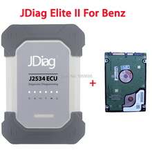 Wireless JDiag Elite II with DAS Xentry For Mercedes Benz Diagnosis Replace MB Star Diagnostic C4 Scanner SD Connect Compact 4(China)