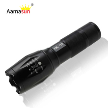 LED Flashlight Cree XM-T6 3800Lumen 5 Mode Zoomable led Torch IP65 Waterproof Lantern linterna 18650 led flashlights for Camping()