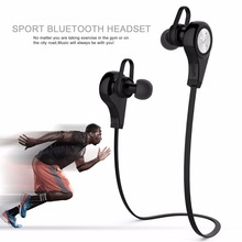 Q9 Sport Running Metal Bluetooth Headphone Wireless Headset Stereo Bass Earphone with Microphone for iPhone Samsung Smart Phone(China)