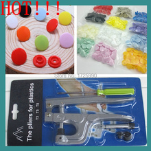 12MM Round Plastic snaps Buttons mixed 20 colors 150 sets T5 baby clothes Diaper Buttons including 1pcs Tool Fastener snap plier(China)
