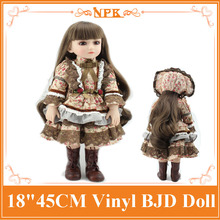 Buy DIY Limited Collection 45cm/18Inch Silicone Vinyl BJD Baby Dolls Cool Clothes Accessories Best Gift Brinquedos Sale