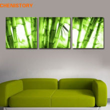 Unframed 3 Pieces Green Fresh Bamboo Modern Adorn Picture On Canvas Print Oil Painting For Bedroom Home Wall Artwork