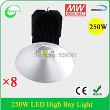 Industrial 250W LED highbay light for warehouse/workshop/supermarket/gym lighting