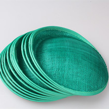 "Free shipping 8""/20cm dark green sinamay fascinator base/ sinamay hair accessories,DIY hair accessories 12pieces/lot MYQH018DG"