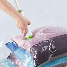 Hot Vacuum Storage Bag Suction Compression Clear Clothes Quilt Dustproof