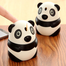 Cute Panda Frogs Shaped Automatic Toothpick box ABS plastic table toothpick jar holder for table decoration(China)