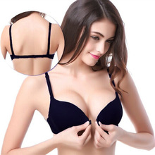 Fashion bra spring and summer seamless sexy front button bra push up underwear buckle female small chest bra