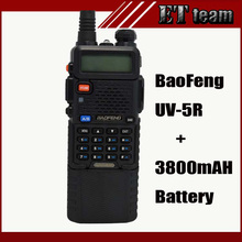 Baofeng UV-5R UV 5R walkie talkie dual band ham radio transceiver UHF/VHF 136-174 & UHF 400-520MHz + 3800mah long Battery uv5r
