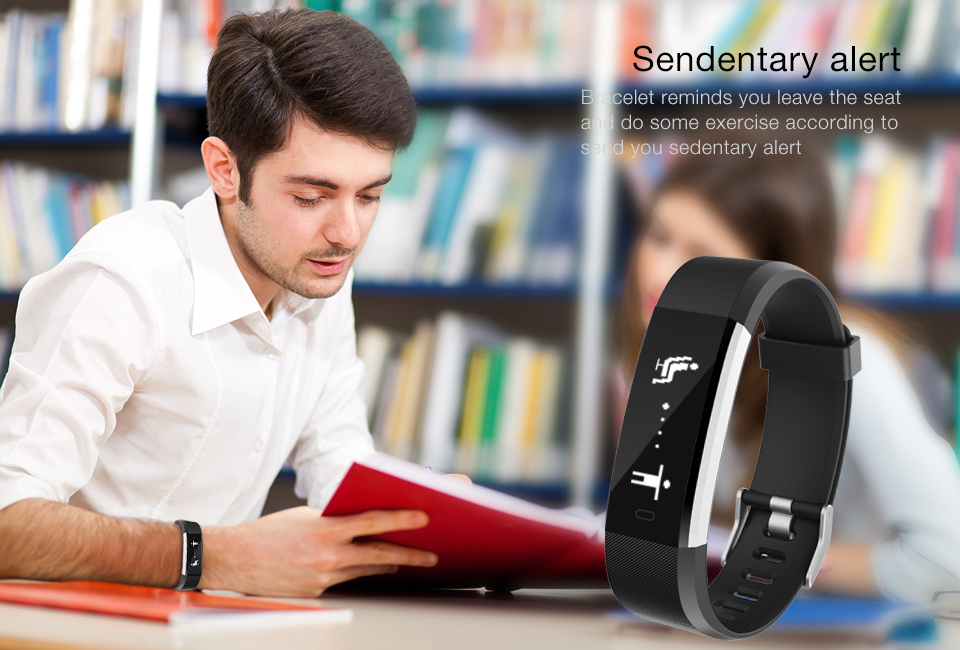 Hot Smart Wristband ID115 Plus Smart Band pedometer Fitness Bracelet Activity Tracker Mp3 Smart Bracelet Pk fitbit PK mi band 2 10