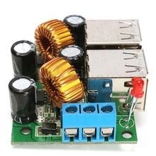 4-USB Port Step Down Power Supply Converter Board Module A5268 DC 12V 24V 40V to 5V 5A For MP3/MP4 Phone Car Equipment