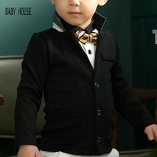 New Autumn Spring White And Black Boys Blazer Casual Boys Suit Jacket Fashion Jackets For Boys B002