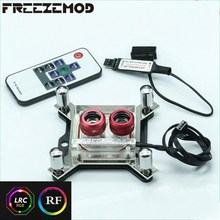 FREEZEMOD CPU water cooling block sprayable liquid block with micro channel for I ntel platform RGB Optional. IN TEL-PM3D