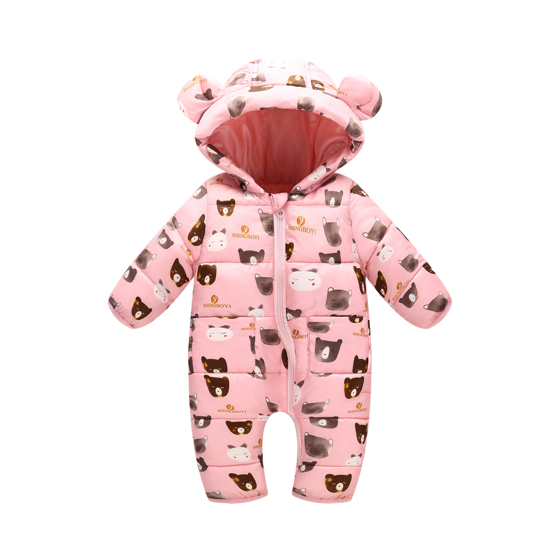 Girls Infants Climb Clothes Baby Romper Jumpsuit Children Climb Clothes Cotton Overalls Boys Long Sleeve Hooded Romper<br>