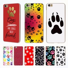 Dogs are girls best friends Dog paw style clear phone shell Case for Redmi 3s 4x 4A Note3 note4 case for Xiaomi Mi 6 5 5s