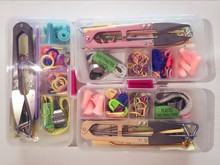 New Home DIY Knitting Tools Crochet Yarn Hook Stitch Weave Accessories Supplies With Case Box Knit Kit Needles