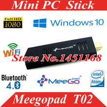 mini pc  stick  Meegopad T02 32GB Version z3735f  OS mini Intel Compute Stick HDMI 2GB RAM Wifi Bluetooth