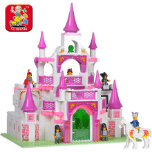 Sluban 2017 New Pink Dream Series Dream Princess Castle Building Block Sets 508pcs Educational DIY Construction Gift Brick toy