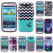 3 in 1 High Impact Armor Case Hard Combo Flowers Waves Stripe Anchor zebra Soft Silicone Case Cover For Samsung Galaxy S3 i9300