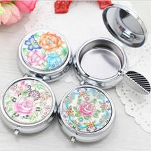 Outdoors Ash Bin Portable Pocket Stainless Steel Round Cigarette Ashtray jewelry Box Storage organizer case LW0434(China)