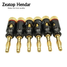 8Pcs Nakamichi 4mm Banana Plug Spiral Type 24K Gold Screw Stereo Speaker Audio Copper Terminal Adapter Electronic Connector(China)