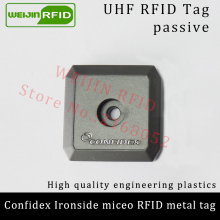 UHF RFID anti-metal tag confidex ironside mirco 915m 868mhz Impinj Monza4QT EPCC1G2 6C durable ABS smart card passive RFID tags
