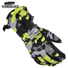 New Winter Waterproof Ski Gloves Chidlren Kids Women Men Skiing Gloves Windproof Breathable Camouflage Anti-skid Mittens(China)